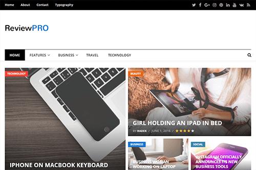 theme tin tuc wordpress reviewpro