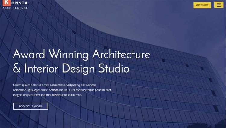 theme wordpress architect tối ưu seo