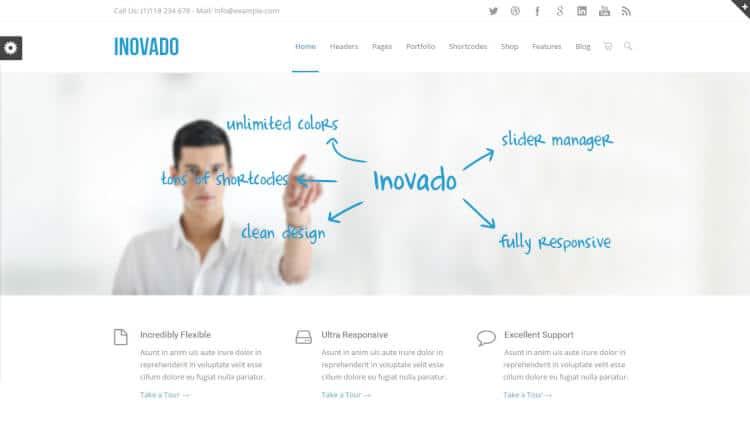 theme wordpress inovado tối ưu SEO
