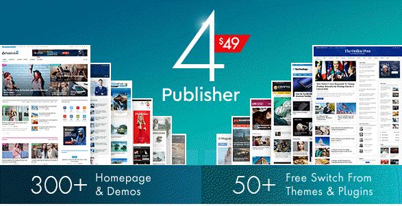 Publisher theme wordpress tạp chí tin tức