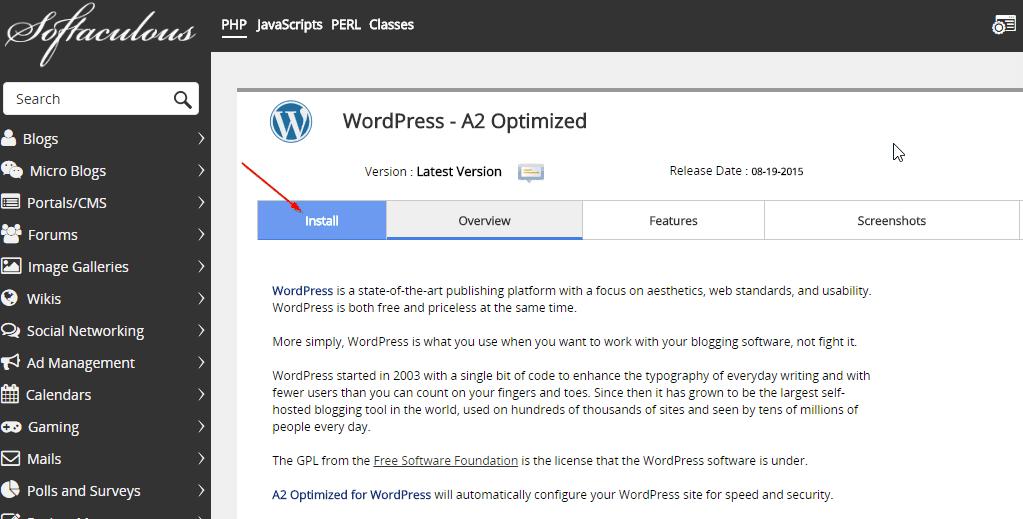 cài đặt WordPress minh họa 2