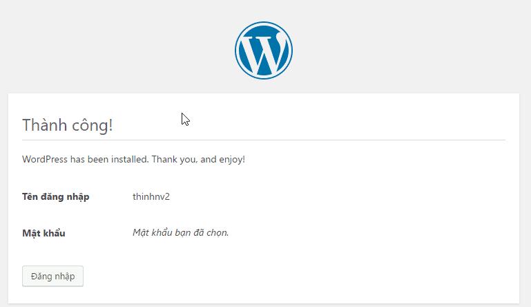 cài đặt WordPress minh họa 20