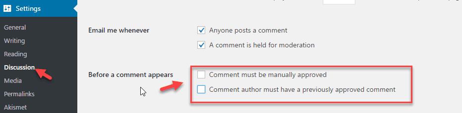 Quản lý bình luận trong WordPress