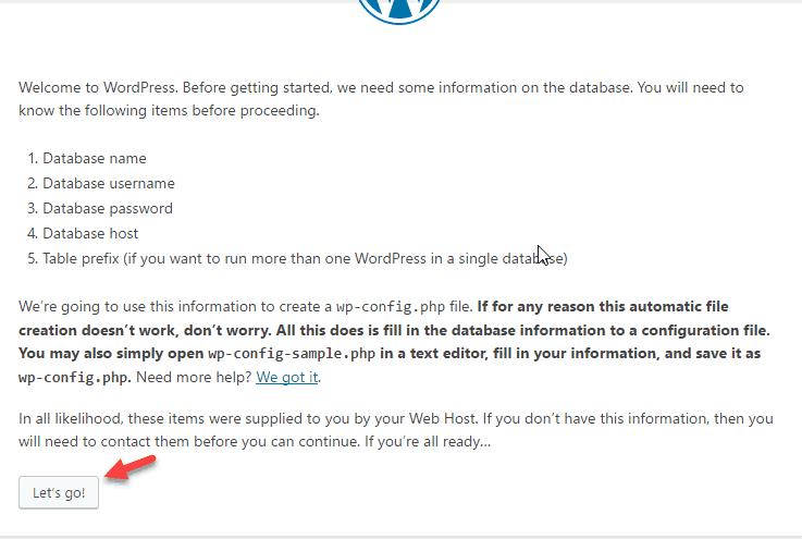 cài đặt wordpress trên localhost 23