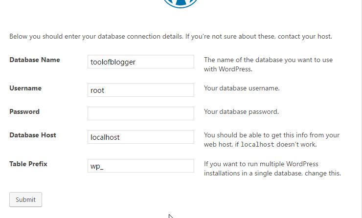 cài đặt wordpress trên localhost 24