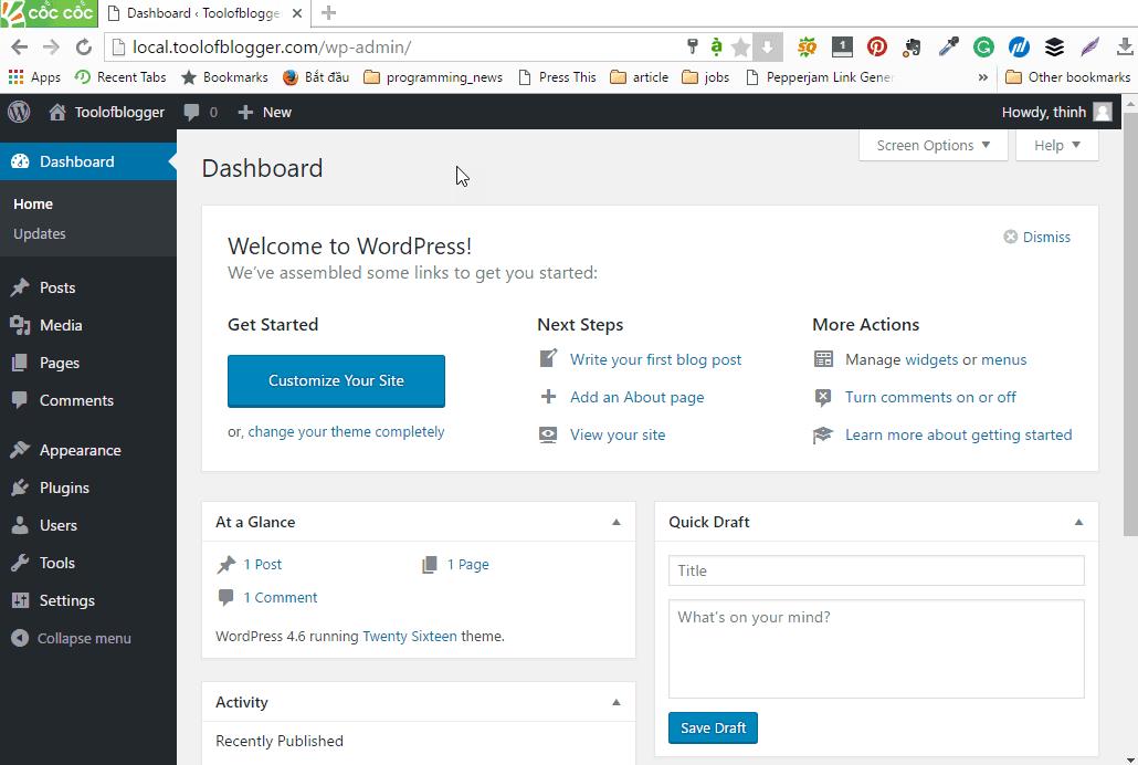 cài đặt wordpress trên localhost 29
