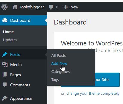 cách tạo post trong WordPress 1