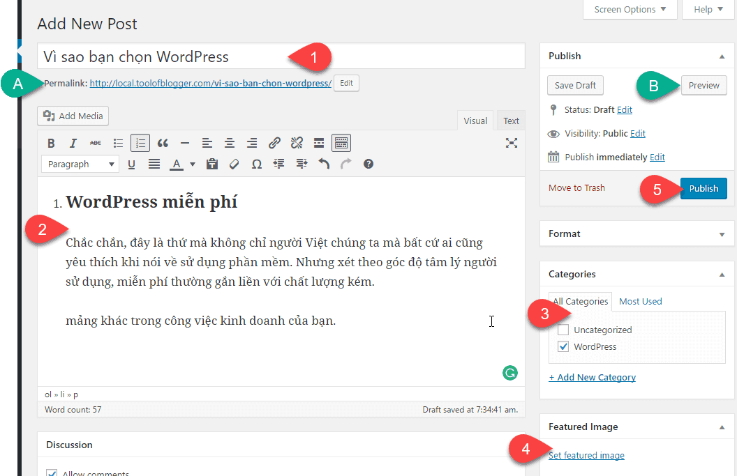 cách tạo post trong WordPress 16