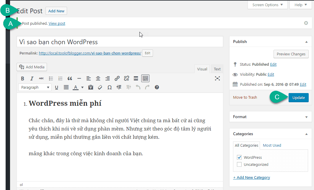 cách tạo post trong WordPress 17