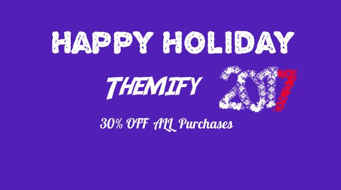 Themify giảm giá lên tới 75% nhân mùa Giáng sinh và năm mới