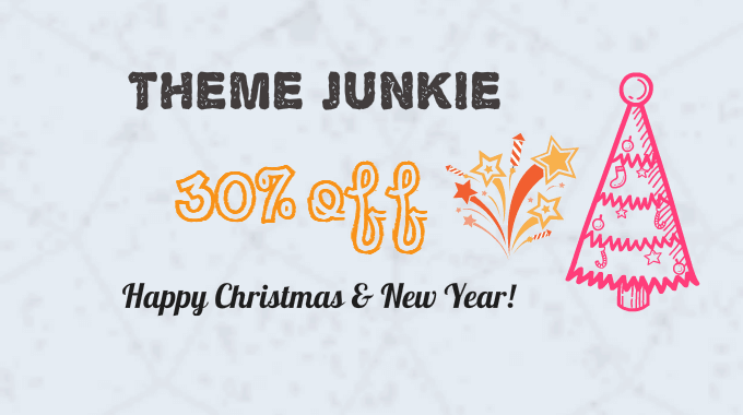 Theme Junkie giảm giá lên tới 30% nhân Giáng Sinh và năm mới