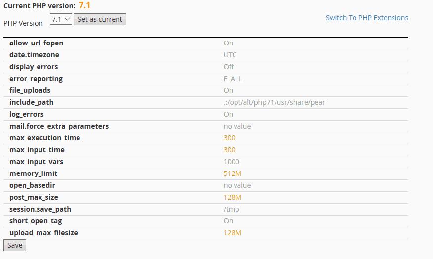 nâng cấp php 7.1 cho wordpress 5