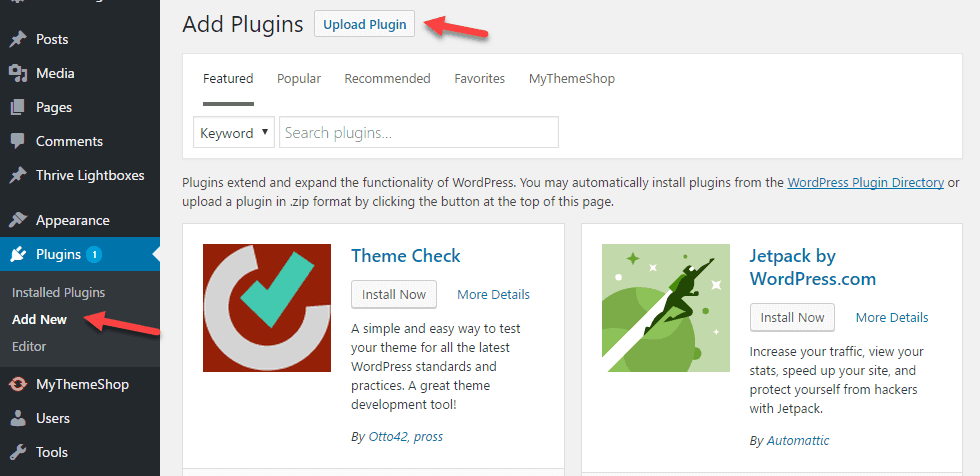 cài đặt plugin WordPress 4