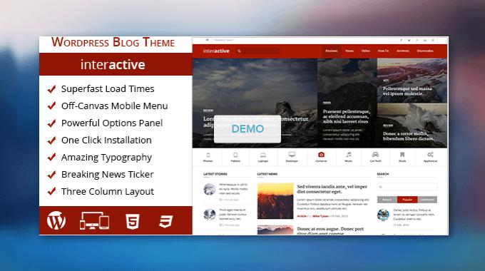 Đánh giá Theme Interactive: Một theme bắt mắt và chuyên nghiệp cho blog