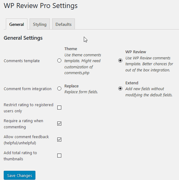 wp review pro 9