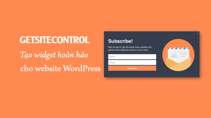 GetSiteControl: tạo widget hoàn hảo cho website WordPress