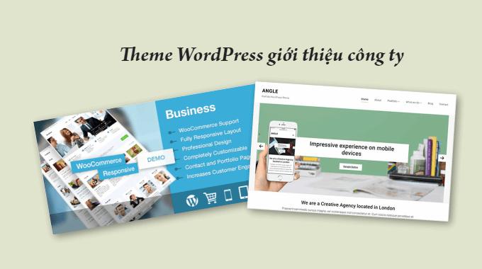 11 theme WordPress giới thiệu công ty trả phí đẹp mắt