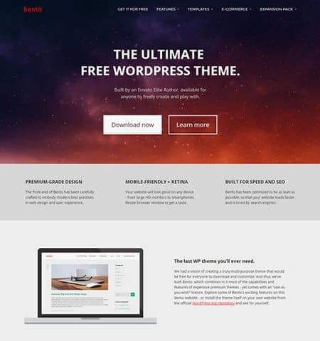 theme wordpress miễn phí đẹp bento