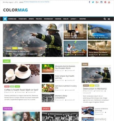 theme wordpress miễn phí đẹp colormag