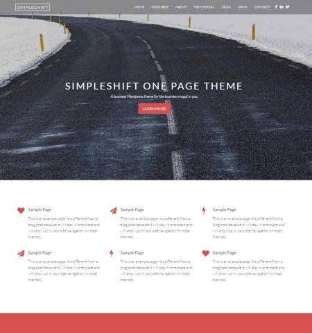 theme wordpress miễn phí đẹp simpleshift