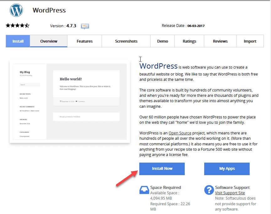 cài đặt wordpress trên hosting của azdigi 1