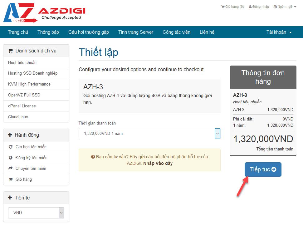 cách đăng ký hosting tại azdigi 3