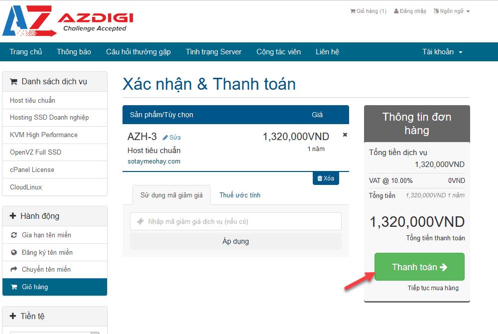 cách đăng ký hosting tại azdigi 4