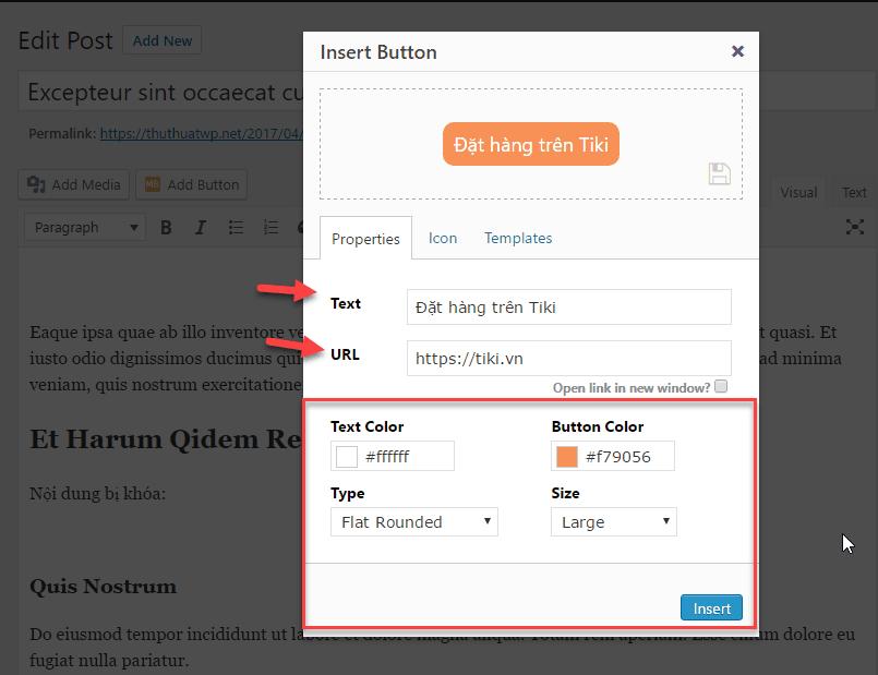 tạo button trong wordpress 16