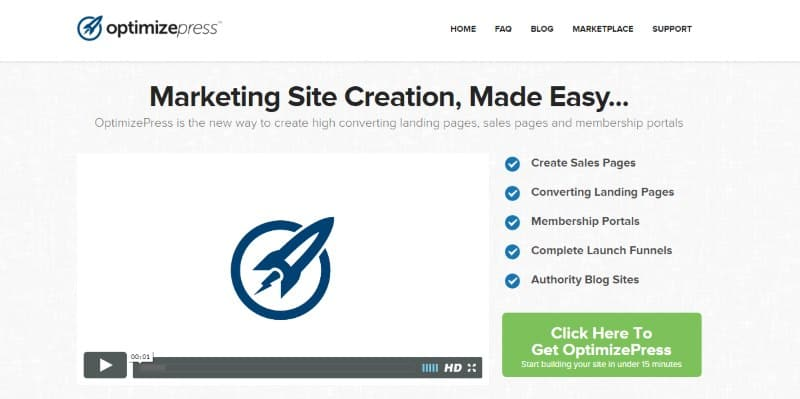 optimizepress landing page