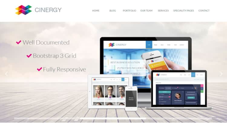 theme wordpress cinergy tối ưu SEO