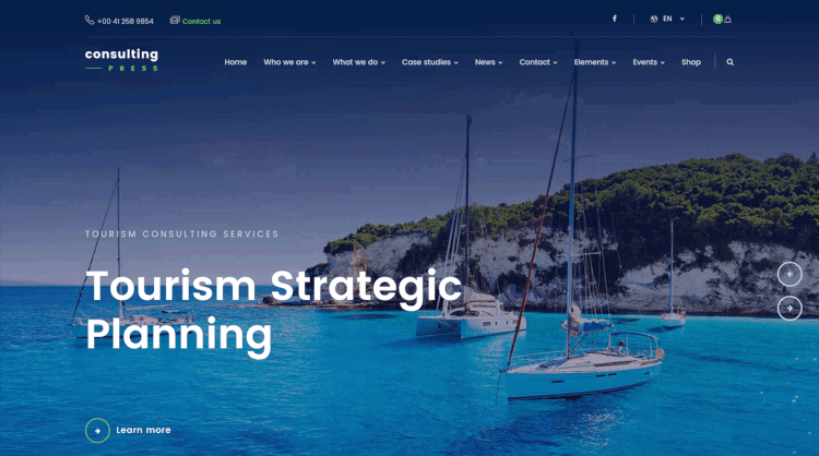 theme wordpress consulting press tối ưu SEO