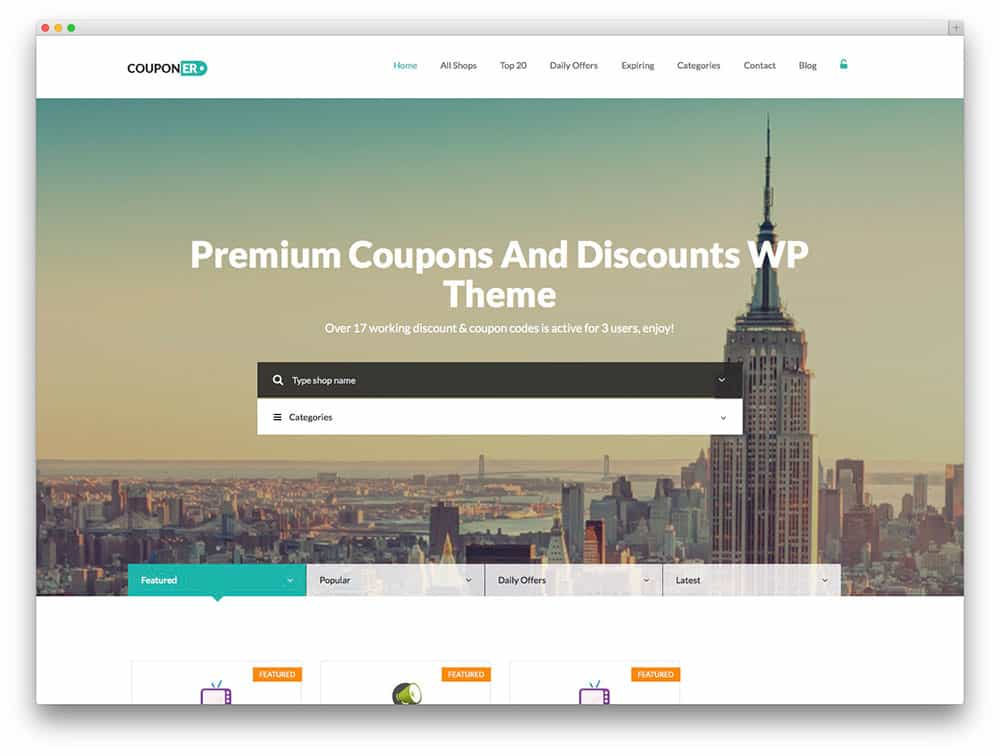 theme wordpress couponer