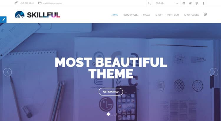 theme wordpress skillful tối ưu SEO