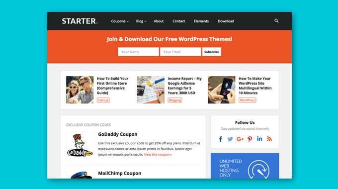 Đánh giá theme Starter (HappyThemes): theme ngon bổ rẻ cho affiliate