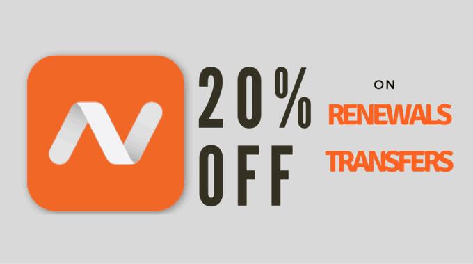 Namecheap giảm giá 20% khi đăng ký mới, transfer và gia hạn domain
