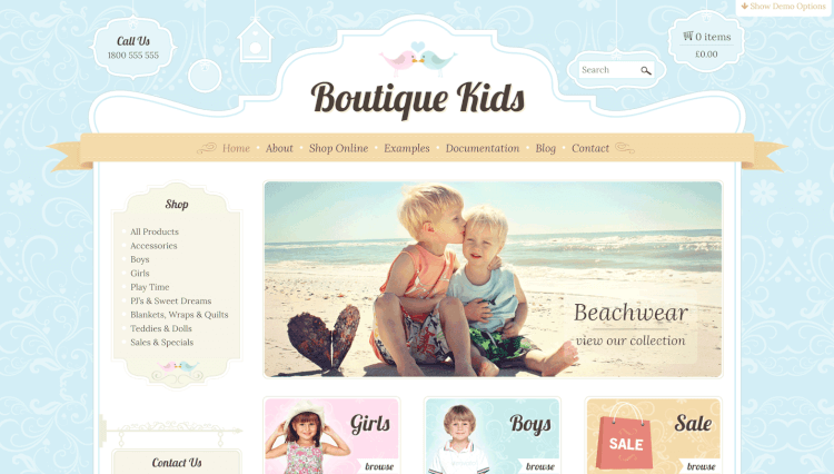 theme boutique kids