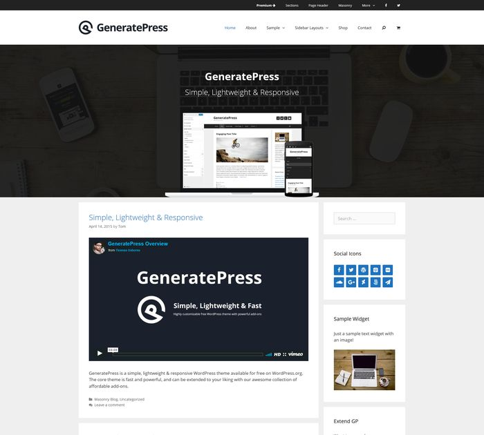 theme generatepress