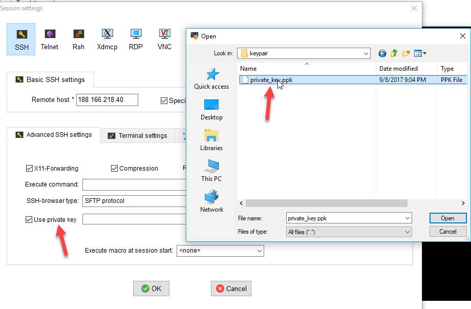 hướng dẫn kết nối ssh dùng ssh key 6