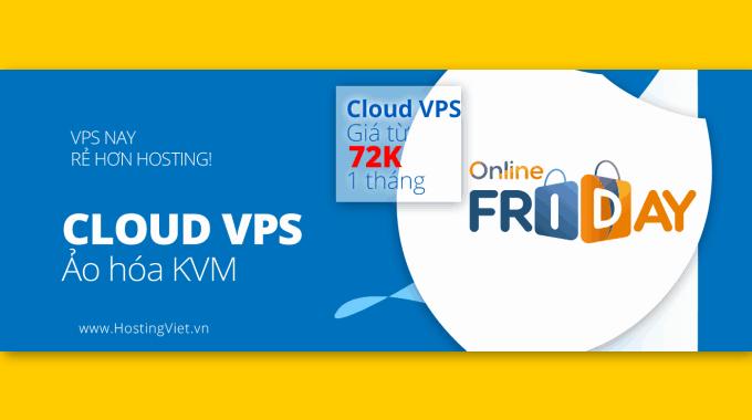 HostingViet giảm 60% dịch vụ Cloud VPS nhân ngày mua sắm Việt Nam