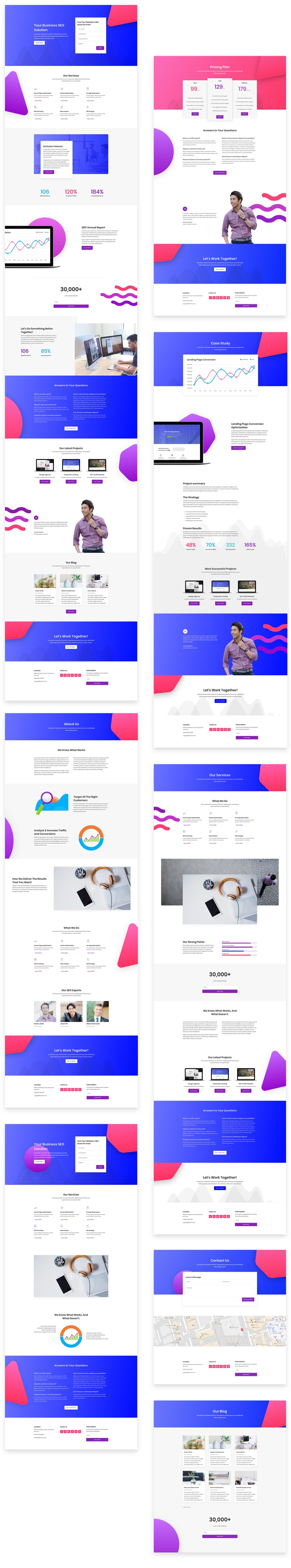 divi seo layout pack 1