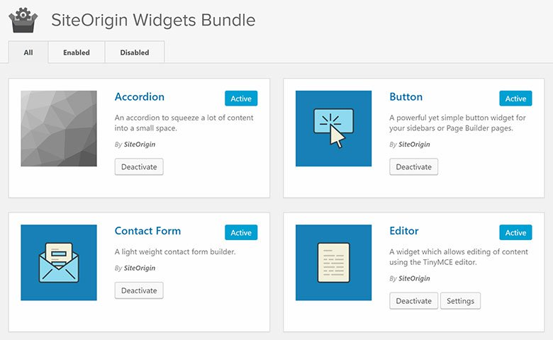 SiteOrigin page builder 3