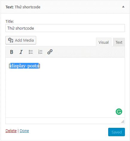 cách sử dụng shortcode 2